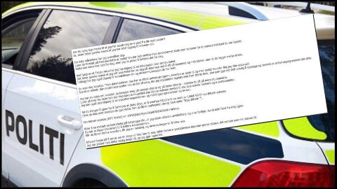 Politiet advarer mot svindel, og ber ingen om å betale folk som truer dem på e-post.