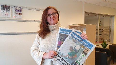 OPPLAGSVEKST: Inderøyningen får stadig flere lesere, og redaktør Pia Marie Lerseth kan glede seg over å ha fått 110 flere abonnenter det siste året.