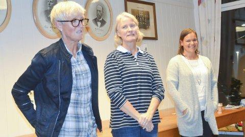 NESTORER: Ranveig Karlsen (t.v.), Tone Burås og Katrine Nysveen.