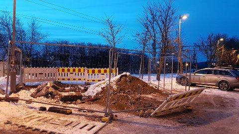 Sperret av: Handikap-parkeringen på Sørumsand stasjon. Foto: Privat