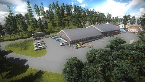 STØRRE PLASS: Det nye bygget vil utgjøre 160 kvadratmeter større plass.