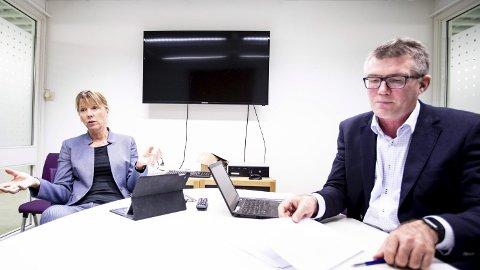 Harmoniserer eiendomsskatten: Rådmann Trine Myrvold Wikstrøm og økonomidirektør Sven Nylænder.