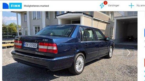 Legg merke til den lange bakdøra. Bilen er over 5 meter lang. Faksimile fra finn.no
