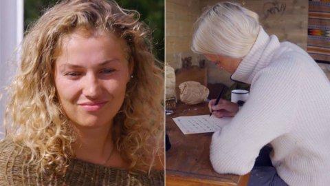 BRØT LØFTET: Da brevet fra utslåtte Wiktoria Rønning ble lest opp for de andre «Farmen»-deltakerne stod det noe helt annet der enn det som var blitt avtalt. Foto: TV 2