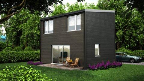 Funksjonell AS planlegger eneboliger på 70 kvadratmeter med tre soverom. Illustrasjon: Funksjonell AS