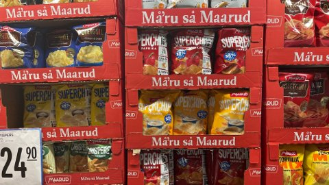 Potetgull salt og pepper holdbar til 21.06.2021 trekkes tilbake av Maarud.