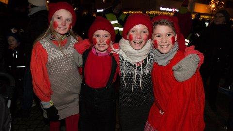 Nissene fra Fantefølge var definisjonen på julestemning tilbake i 2016. Fra venstre: Alde Haugedal Söderholm, Ulla Alsvik Mangersnes, Stine Svendsen og Eliah Wallin.