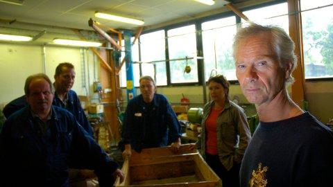 Klubbleder Stein Mossige på Kverneland er mellomfornøyd med lønnsoppgjøret. Dette bildet er tatt i forbindelse med lønnsforhandlinger i 2010. Inger Grete Indrebø (f. h.), Oddbjørn Skjørestad, Einar Erga og Olav Egeland