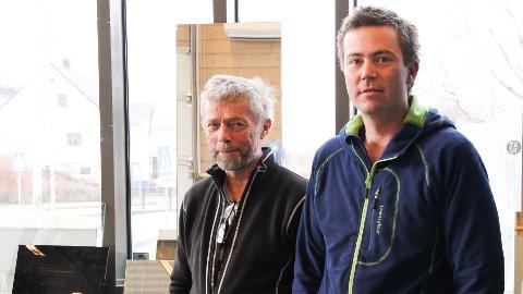 FAMILIEBEDRIFT: Far Einar Knutsen, som startet EK glass i 1974, sammen med sønnen Mats, som har vært daglig leder siden 2002.
