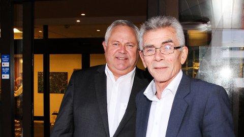 Tor Egil Lie (t.v.), administrerande banksjef i nye Jæren Sparebank, og Arne Gravdal, tidlegare banksjef i Time Sparebank, har begge stor tru på den Jæren Sparebank.