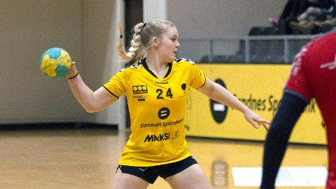 Kristiane Knutsen i aksjon for Sola i 1. divisjon. Nå skal hun bidra til Bryne-opprykk.