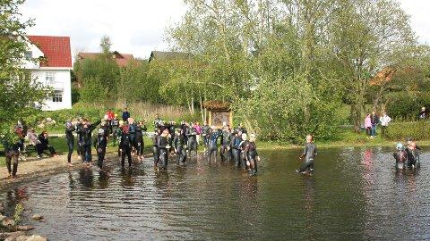 TEST:  I sist uke arrangerte Bryne triatlonklubb en test for de som ville prøve ut løypa.