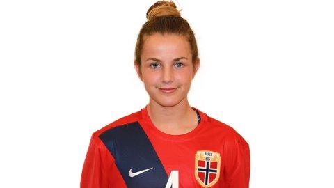Erfaren: Tuva Hansen er bare 17 år, men har allerede rukket å spille 46 kampen i den norske drakta.
