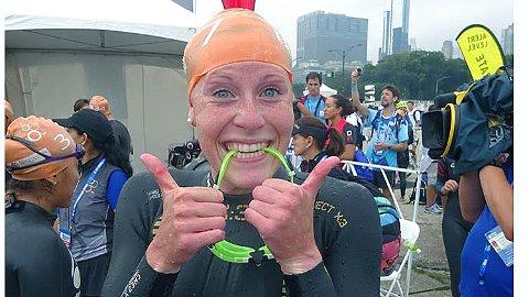 Så glad var Lotte Miller etter målpassering i Chicago.