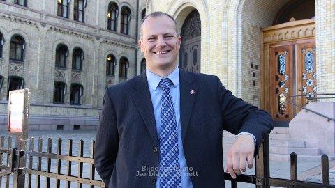 AKTIV: Ketil Solvik-Olsen (Frp) har vist godt att i Stortingets spørjetime.