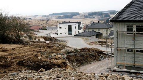 Stokkalandsmarka sør for Vigrestad er hovudsatsingsområde i Hå kommune. Kommunen har som mål å alltid ha ledige kommunale tomter her. (Arkivfoto frå tidlegare i år.)