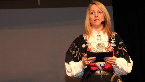 Ane Mari Braut Nese, ordførar i Klepp, held nyttårstale 1. nyttårsdag i Klepp rådhus.