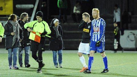 Bjørn Erik Taksdal (t.h.) og Nærbø var to poeng og noen plussmål fra opprykk til 3. divisjon. En godkjent sesong!