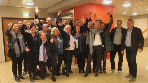 Jubel blant nei-folket i Klepp. Til og med ordføreren som har stemt ja feiret resultatet.