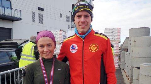 Maria Wiig og Per Svela var raskeste kvinne og mann på Orremilå lørdag.