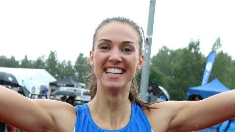 Sara Dorthea Jensen, her fotografert etter at gullmedaljen var sikret i junior-NM for et par uker siden.