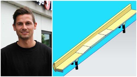 Ved hjelp av et 3D-program har Anders Dahle Thorsen tegnet inn opphøyde ramper langs gulvet på broa. I tillegg til bedre utsikt mener han det vil gi en bonus-effekt i form av å bremse ned farten på syklister.
