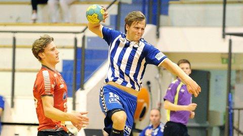 Tord Haugseng, i fin drakt, var Nærbøs toppscorer mot St. Hallvard.