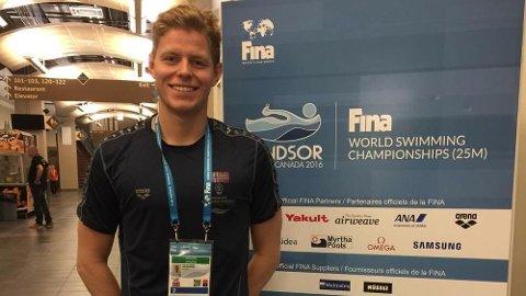 PÅ PLASS: Erik Årsland Gidskehaug er på plass i Canada.