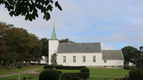 Planane er komne langt for å byggja ny kyrkje ved dagens Klepp kyrkje. Kan det bli ei endring? (Arkivfoto: Åge Bjørnevik)
