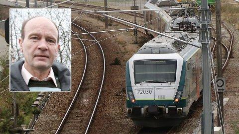 Olaf Gjedrem mener det ikke er nok befolkningsgrunnlag på Jæren til å forsvare en utbygging av Jærbanen.