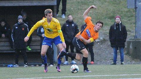 Svein Arne Monsen (t.h.) scoret årets første Rosseland-mål i serieåpningen.