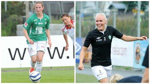 Tuva Hansen (t.v.) og Maria Thorisdottir skal representere Norge i to privatlandskamper på La Manga i januar.
