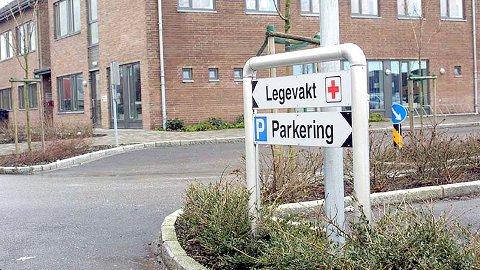 IKKJE PARKERT: Samtalane om legevakt for Klepp og Time har drege ut, men er ikkje parkerte for godt. Bildet er teke utføre dagens felles legevakt for dei to kommunane.