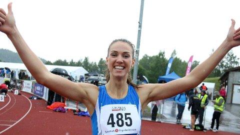 Sara Dorthea Jensen kan juble over NM-gull. Bildet er fra da hun tok gull i nordisk/baltisk U23-mesterskap i Finland.