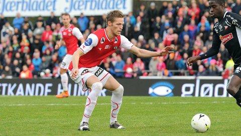 Krister Wemberg i aksjon i sesongavslutningen mot Fredrikstad i fjor høst. Wemberg besøkte Fredrikstad i begynnelsen av denne uken, men ble ikke tilbudt kontrakt.