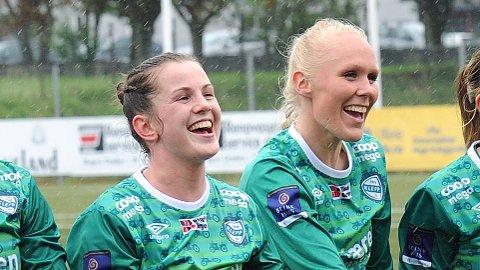 Tuva Hansen (t.v.) og Maria Thorisdottir har grunn til å smile om dagen.