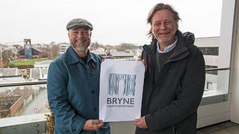 Høghuset er sentralt i den nye logoen til Bryne Næringsforening. Og hvis du leser av logoen med en strekkodeleser, får du opp Bryne.