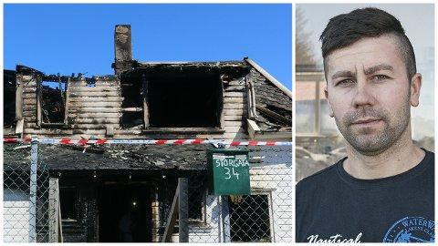 Augustin Vasilica er glad for at han fortsatt er i live etter den dramatiske brannen tirsdag kveld.
