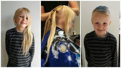 Tilo Haugedal Söderholm er ikke som fireåringer flest. Lørdag 24. juni dro han til frisøren og donerte han bort håret sitt.