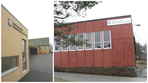 Skulane Horpestad (t.v.) og Vasshus ligg an til å bli nedlagde som ledd i planane om å byggja ein ny barneskule på Kleppe.