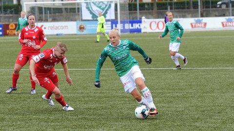 Tameka Butt bommet på straffe da Klepp møtte Sandviken i Bergen lørdag. Her fra en tidligere anledning.