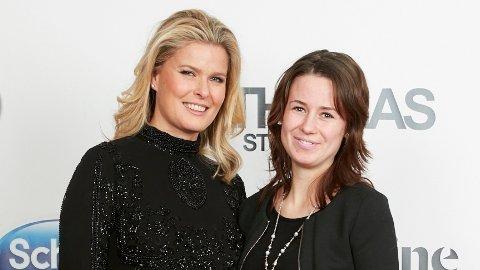 Vendala Kirsebom, modell og kjent fra tv-serien Farmen, sammen med Silje Nygård, butikksjef for Enklere Liv på M44.
