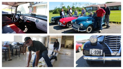 Gammelbilens venner bygger om et fjøs til bilmuseum.
