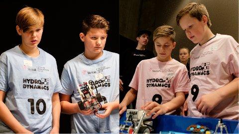 Bots og Nerdz var to av lagene fra Jæren som konkurrerte i Vitenfabrikken denne helgen.