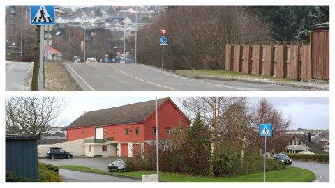 Olav Hålands veg (øvst) ligg like ved Jærvegen nord for Klepp sentrum. Parkvegen sin tidlegare base i Fjogstadvegen (nedst) ligg søraust for sentrum, langs vegen opp mot Særheim.