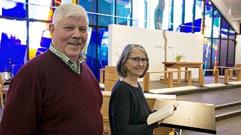 Tarald Oma og Oddny Underhaug ser fram til nok ein kulturkveld i Bryne kyrkje.