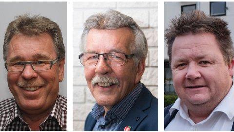 Frå venstre: Petter Stabel, Arne Madland og Svein Arve Nygård.