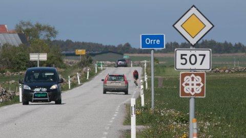 Gang- og sykkelvegen langs fylkesveg 507 Nordsjøvegen frå Hå grense til Orre gamle kyrkje er planlagt for å styrkja Nasjonal Turistveg Jæren og Nordsjøruta for syklistar. (Arkivfoto: Åge Bjørnevik)