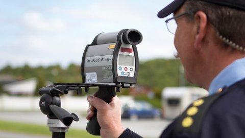 Flere ble tatt for å kjøre for fort under politiets laserkontroll mandag.
