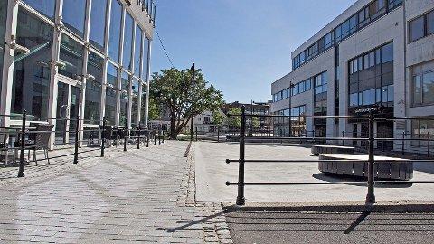 Time kommune har stått bak bygginga av denne gangstien ved Møllehagen restaurant, sjølv om gangstien ligg på privat eigedom.